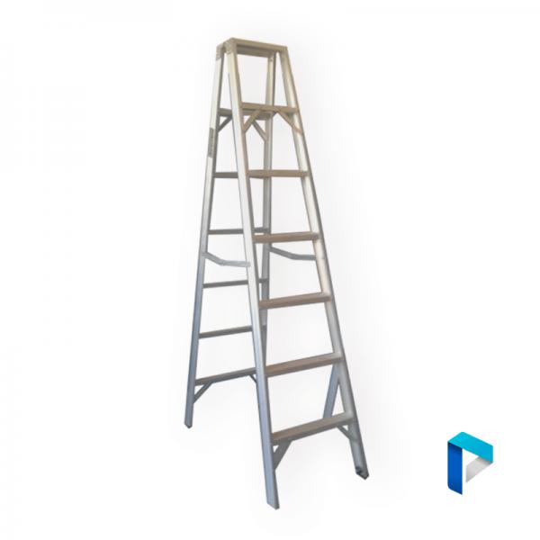 Escalera de aluminio pintor liviana 7 pelda os for Escalera aluminio 2 peldanos
